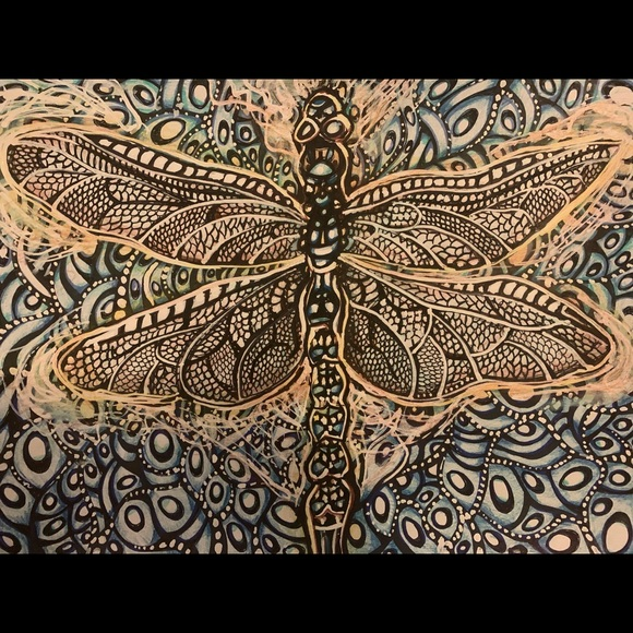 Dragonfly Dreams- a print of my original painting